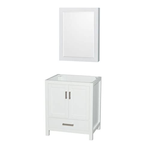 Vanity Mirror Medicine Cabinet Wyndham Collection Sheffield 30 In Vanity Cabinet With