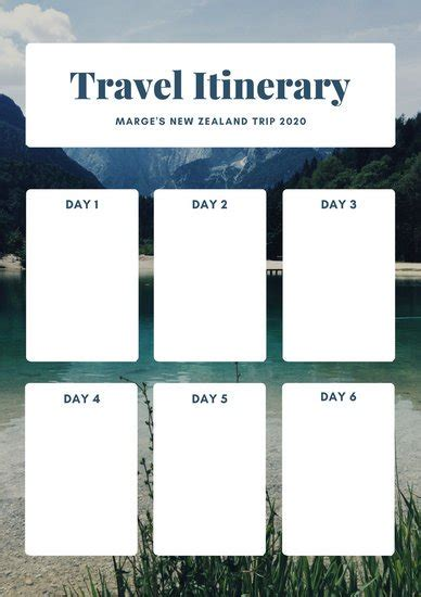 Customize 610 Planner Templates Online Canva Free Travel Itinerary Planner Template