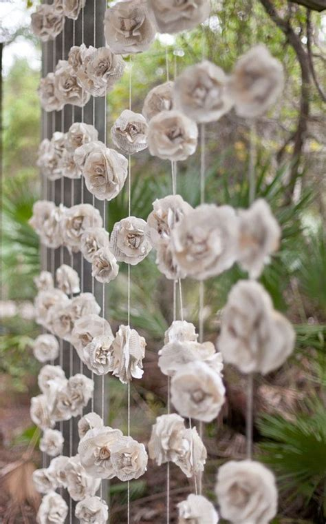 paper flower curtain wedding garland paper flower rose quot curtain quot of twelve
