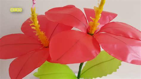 membuat bunga sepatu  plastik kresek trik