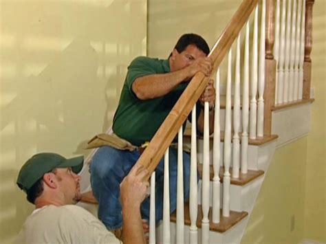 how to install stair banister how to install new stair treads and railings how tos diy