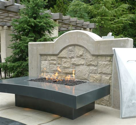 Outdoor Gas Fireplaces For Decks by Large Outdoor Deck Vancouver Gas Fireplaces