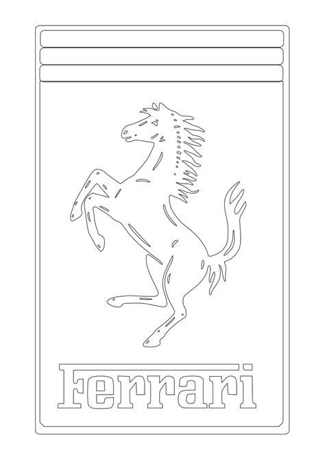 Dibujos para Colorear, Pintar , imprimir.....: FERRARI