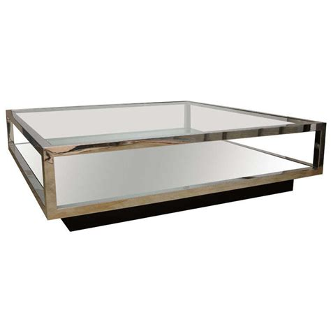 sleek mirrored coffee table at 1stdibs
