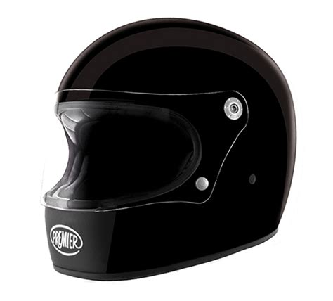 Helm Retro Kulit Pad Berkualitas 14 premier trophy gloss black u9 with ece 24helmets de