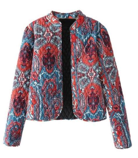 Quilted Jacket Patterns Free by Multi Color Vintage Pattern Quilted Jacket