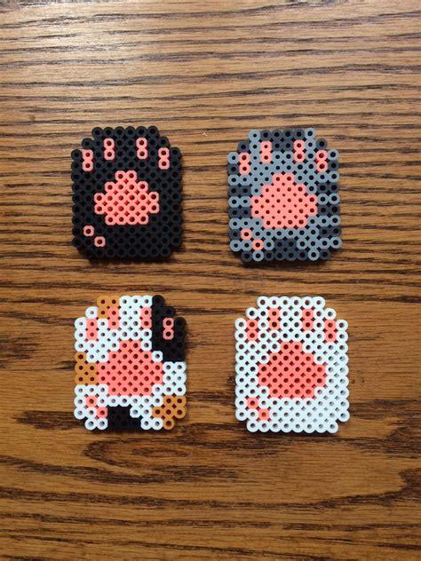 perler bead cat cat paw perler bead sprite