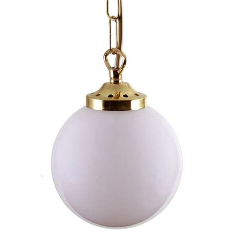 Globe Pendant Lighting Deco Opal Globe Ceiling Pendant Light On Brass Chain Mini Size