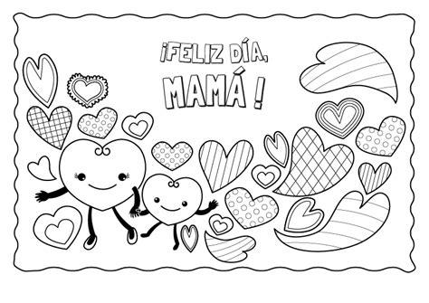 dibujos dia de la madre para colorear corazones para el d 237 a de la madre dibujo para colorear e