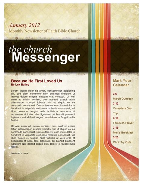 church newsletter templates publisher beautiful edit ready church newsletters and newsletter