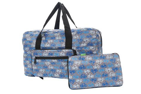 Bag Is Eco Chic by Blue Foldable Vintage Bicycle Holdall Cyclemiles