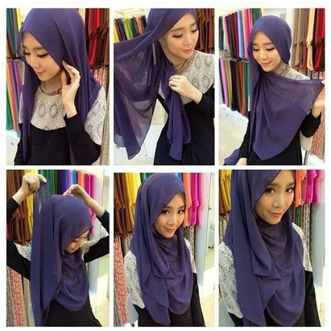 tutorial hijab simple selendang 25 best ideas about tudung shawl on pinterest hijab