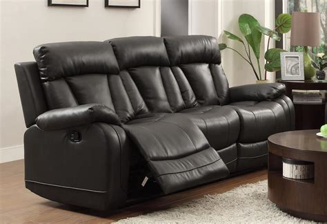 Black Reclining Sofa Set Homelegance Ackerman Reclining Sofa Set Black Bonded Leather Match 8500blk Sofa Set