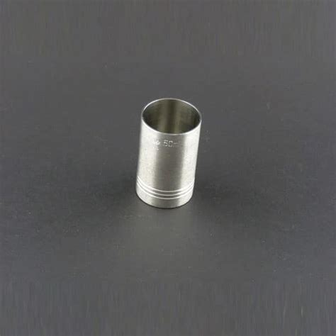 The 50ml 1 7oz 50ml 1 7oz measure stainless steel brown