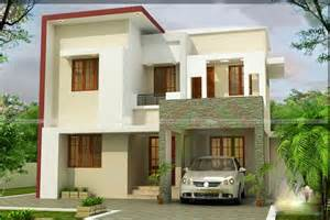 modern house with two floors and 94 square meters kerala