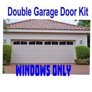 Garage Door Faux Window Carriage House Style Faux Windows Garage Door Vinyl Decals