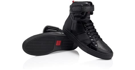 hugo high top sneakers lyst hugo fulten mid leather studded high top