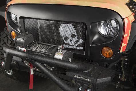 rugged ridge  spartan grille kit skull   jeep wrangler jk