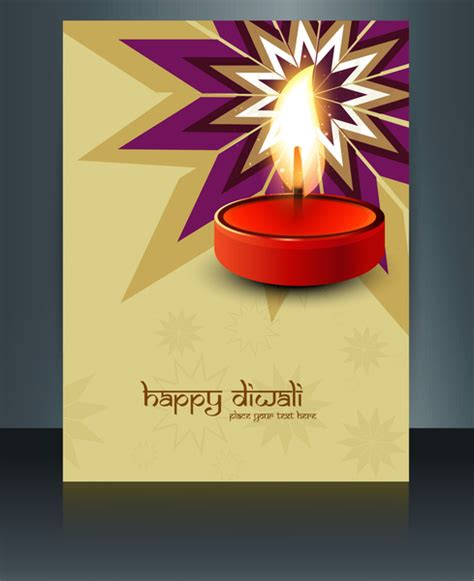 diwali card templates vector beautiful diwali celebration brochure card template