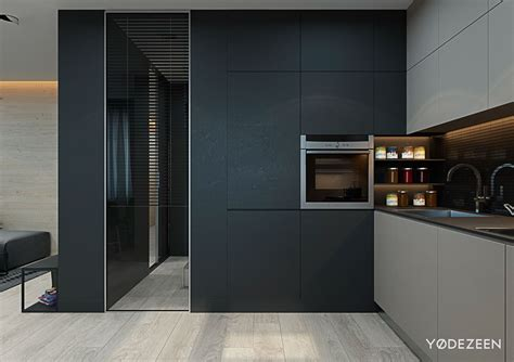 Galley Style Kitchen With Island 5 small studio apartments with beautiful design