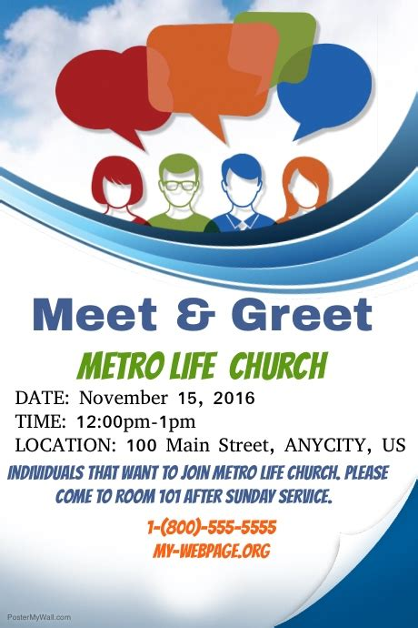 meet and greet flyers templates meet and greet template postermywall