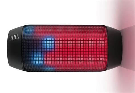 light up portable speaker jbl pulse bluetooth speaker includes a panel of led lights