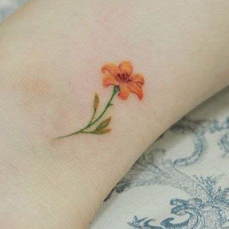 small tiger lily tattoo for gram tiger ink tatuaje