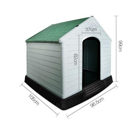 plastic dog house xl weatherproof plastic dog kennel pet puppy outdoor indoor garden dog house ebay