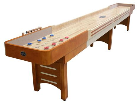 12 honey maple playcraft coventry shuffleboard table