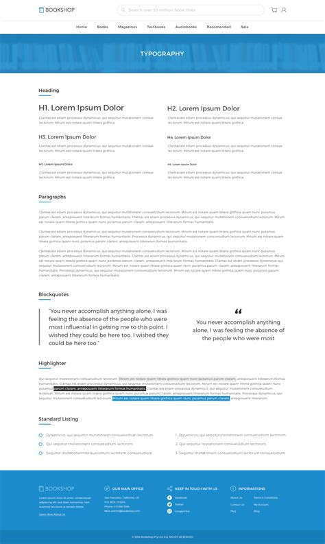 bookshop online book store template psd by