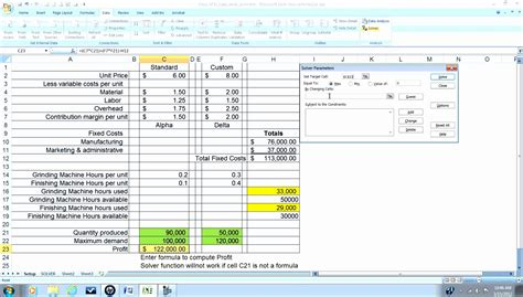 10 Sensitivity Analysis Excel Template Exceltemplates Exceltemplates Sensitivity Analysis Excel Template