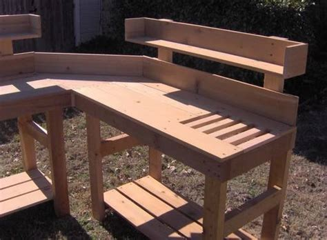 corner potting bench new corner cedar potting bench plant gardening benches