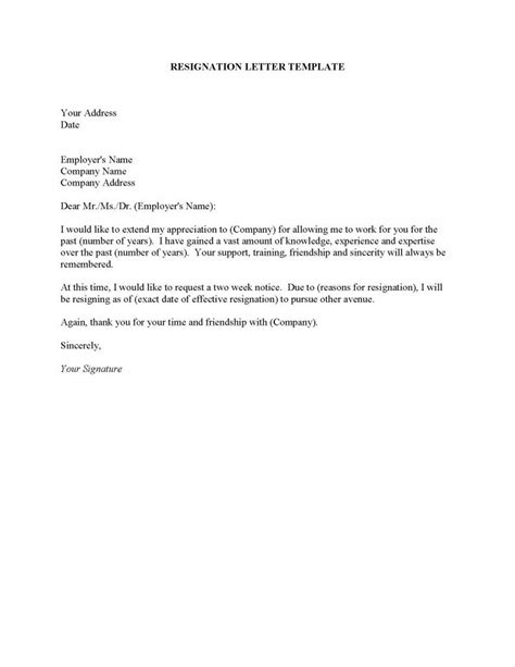 How To Address A Letter Of Resignation by Resignation Letter Format Template Free How To Write A Resignation Letter Address Date