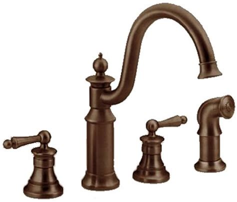 rubbed bronze kitchen sink faucet