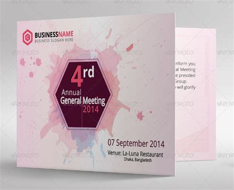 meeting card template 17 meeting invitation templates free sle exle