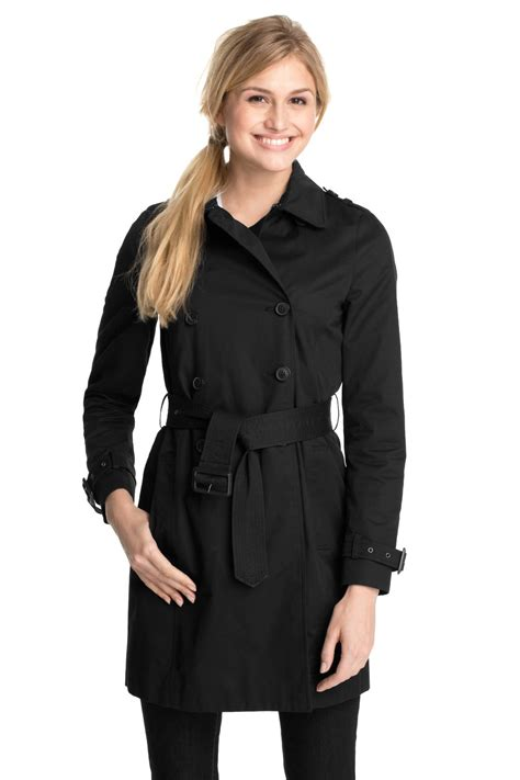 Esprit Black esprit black trench coat dresscodes
