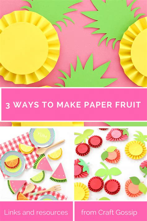 Ways To Make Paper - three ways to make paper rosette fruit scrap booking