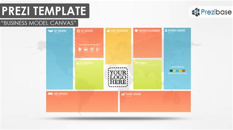 business templates business model canvas prezi template prezibase