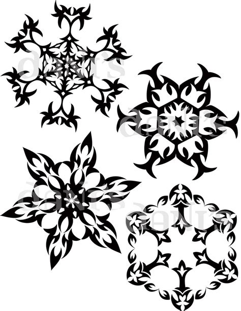 tribal snowflakes by white tigress 12158 on deviantart