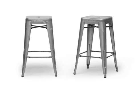 architect gunmetal bar stool buy metal bar stools baxton studio french industrial modern counter stool in