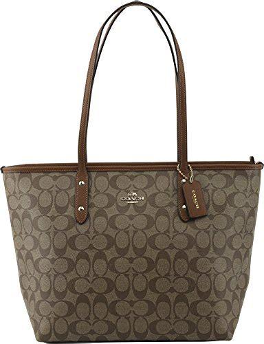 coach signature city zip tote bag handbag style for