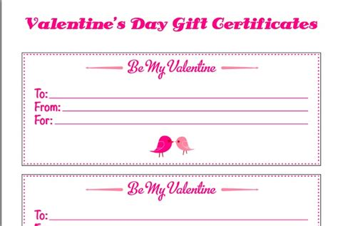 printable gift certificates for valentine s day valentine s day free gift certificates printable