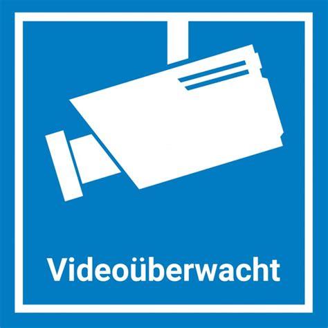 Aufkleber Auto Kamera by Video 252 Berwachung Aufkleber Sticker 15x15cm Blau