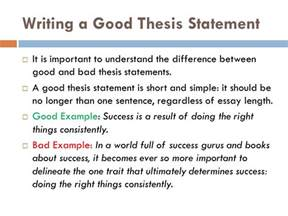 writing a thesis statement for an essay writing a thesis statement ppt