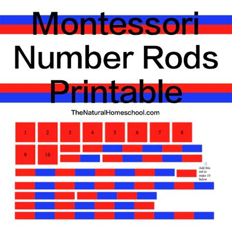 printable montessori rods montessori number rods presentation free printable hip
