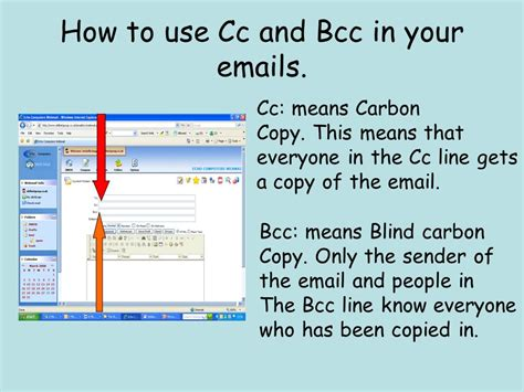in bcc how to use cc and bcc in your s ppt