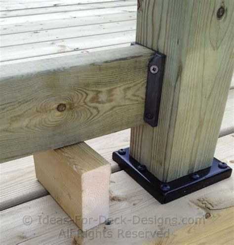 how to install a l post 4x4 post connector building wooden railings installing