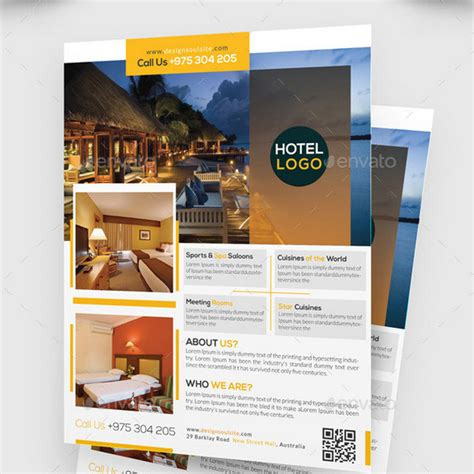 hotel brochure template 25 best hotel flyer templates