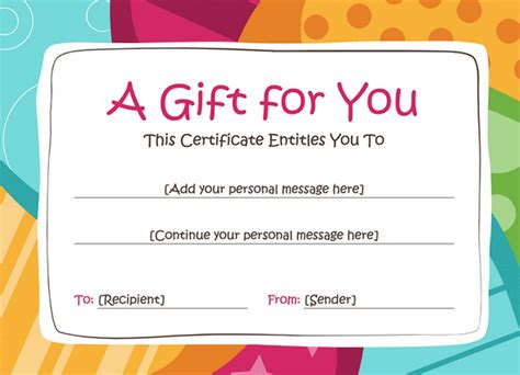 birthday coupon template birthday gift voucher template gift templates