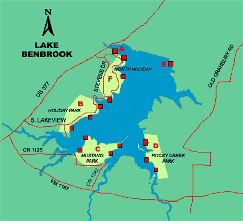 map of benbrook texas benbrook lake access